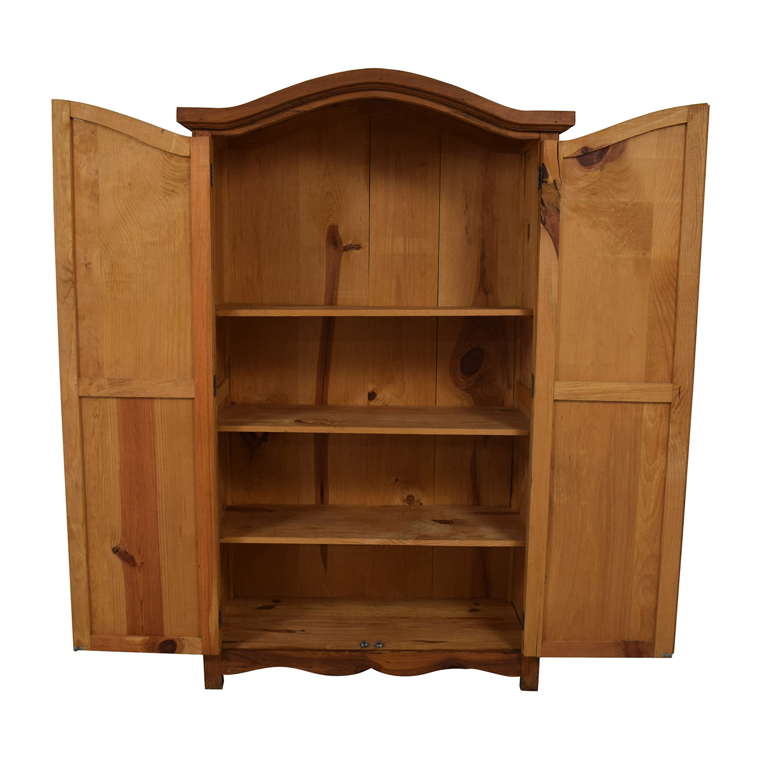 Dovetailed Wood Wardrobe Armoire dimensions