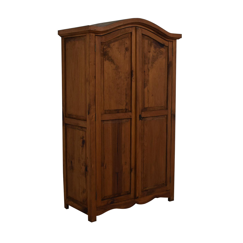 Dovetailed Wood Wardrobe Armoire brown