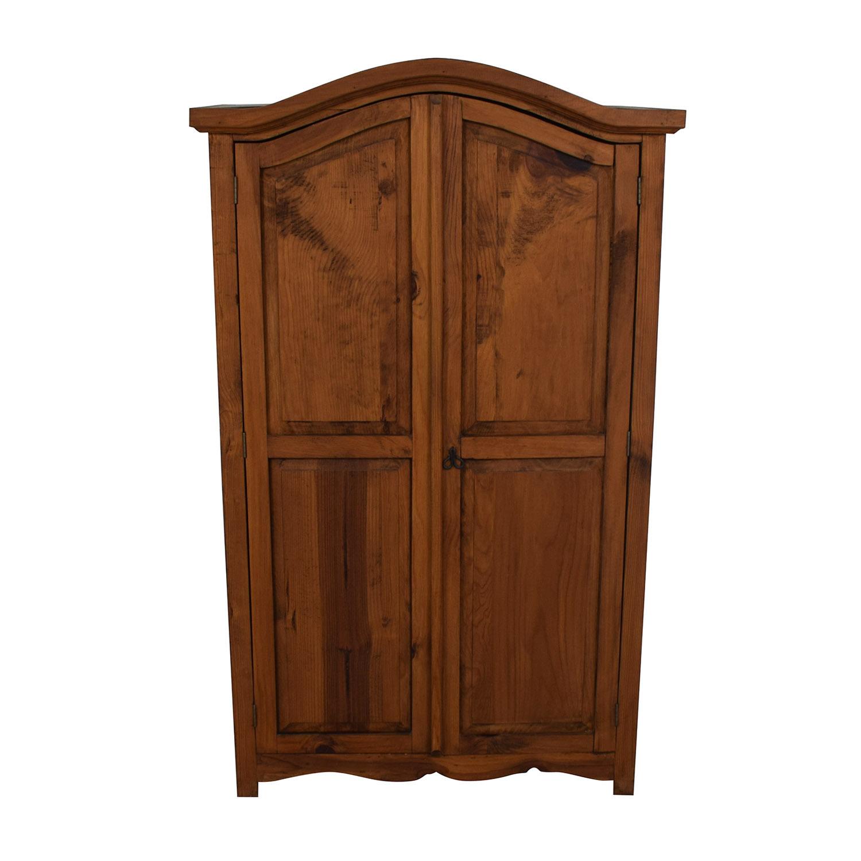 Dovetailed Wood Wardrobe Armoire