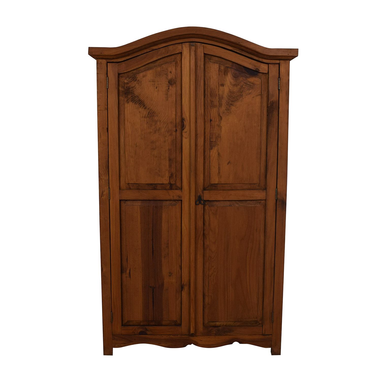 Dovetailed Wood Wardrobe Armoire second hand