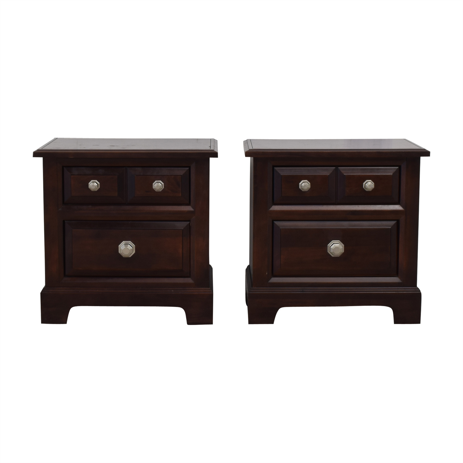 Vaughan-Bassett Two Drawer Night Stands sale