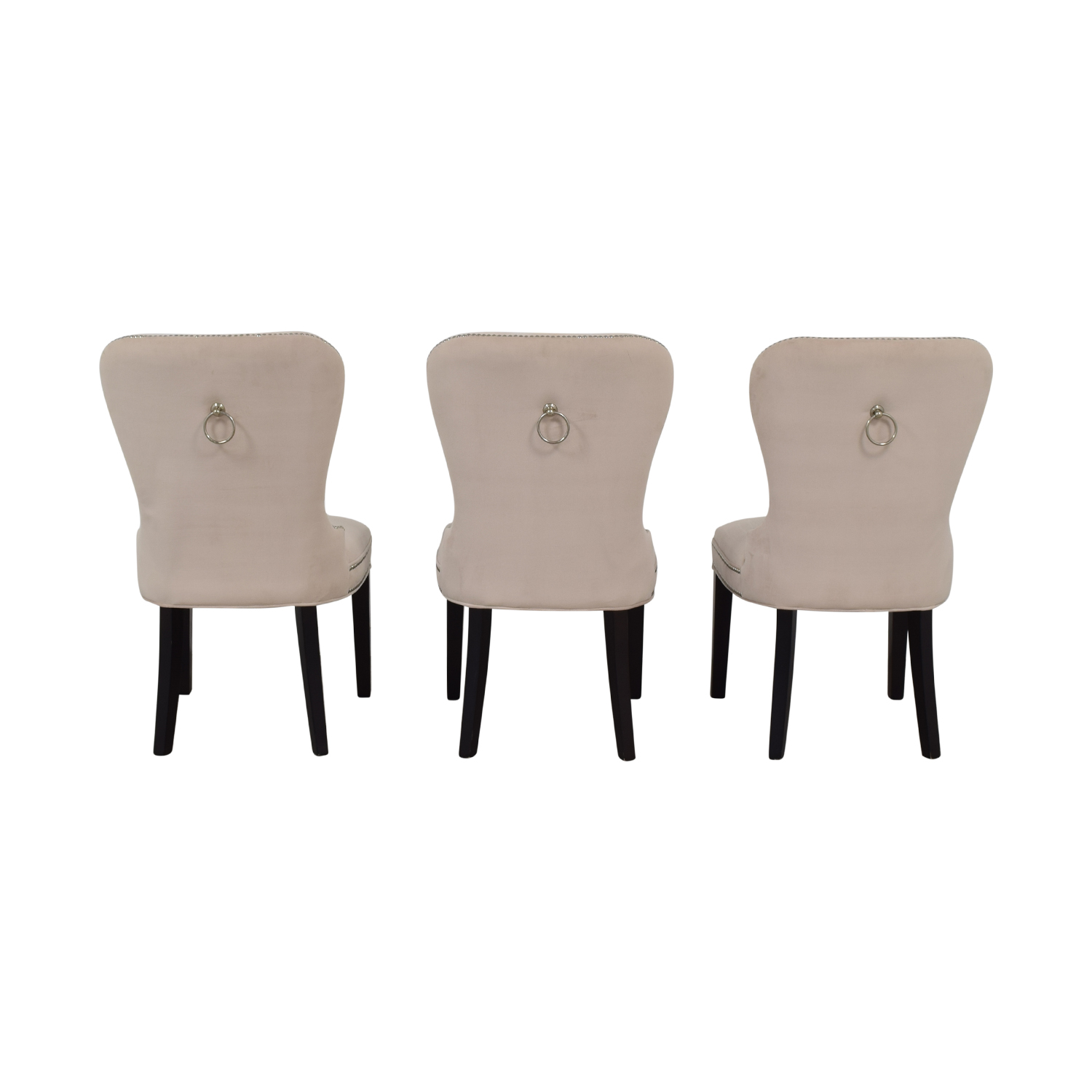 Z Gallerie Z Gallerie Charlotte Cream Tufted Nailhead Dining Chairs used