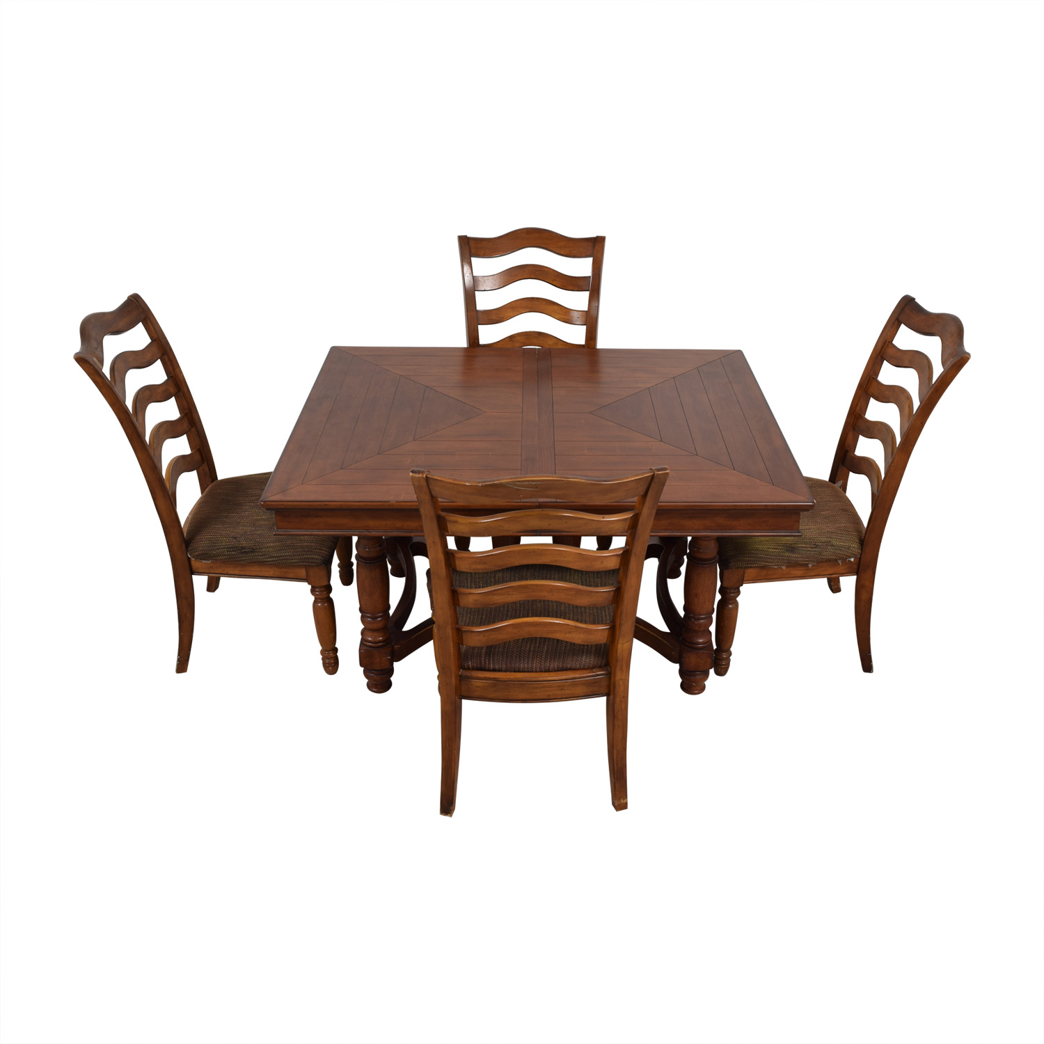 Extendable Wood Dining Set