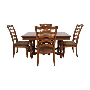 Extendable Wood Dining Set sale