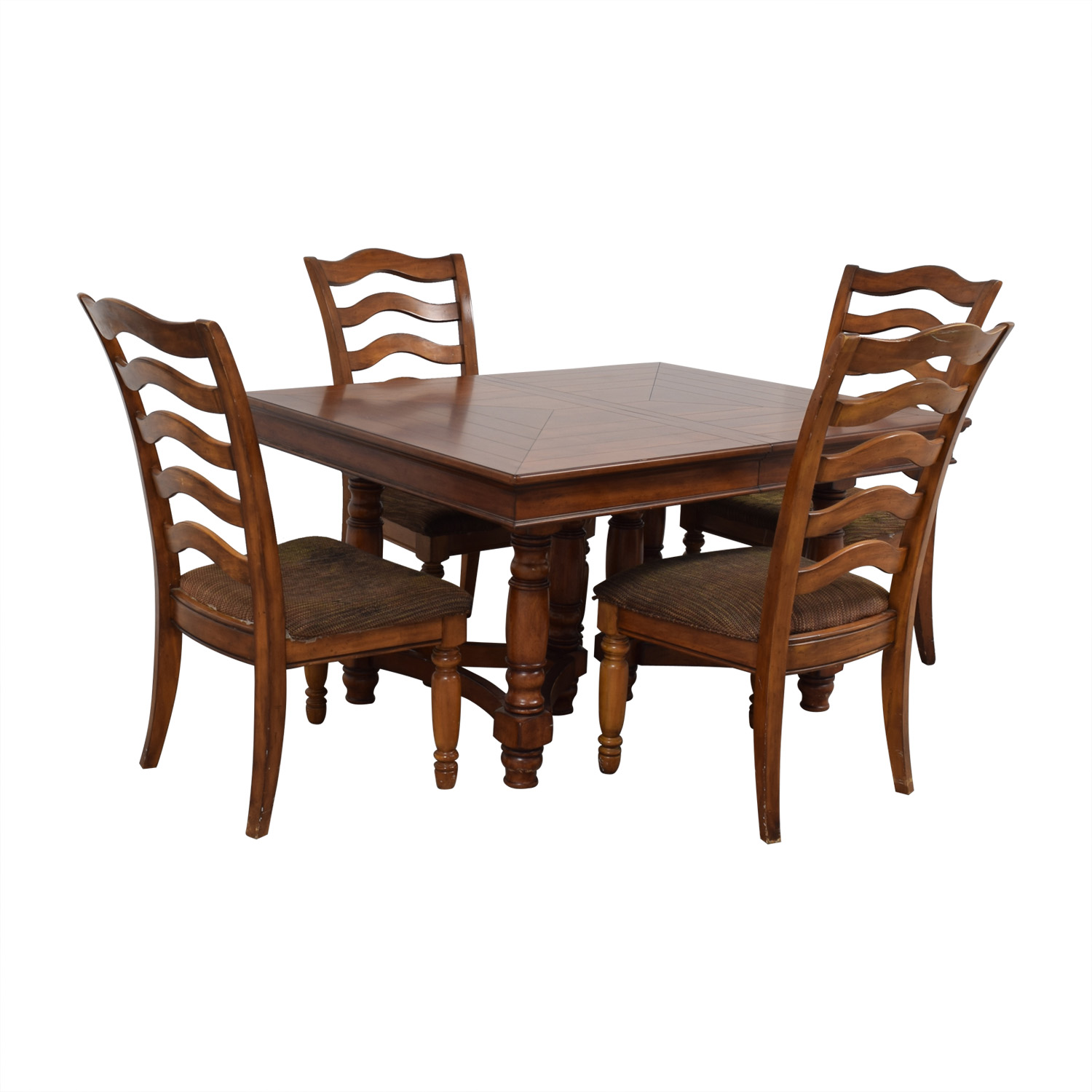 Extendable Wood Dining Set dimensions