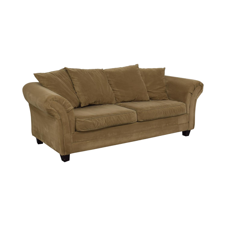 Bob's Discount Furniture Bob's Discount Furniture Bella Tan Single Cushion Sofa nyc