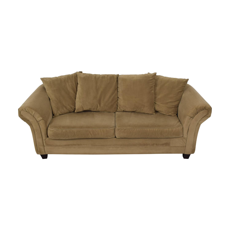 shop Bob's Discount Furniture Bella Tan Single Cushion Sofa Bob's Discount Furniture Sofas