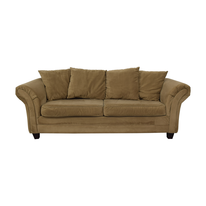 Bob's Discount Furniture Bob's Discount Furniture Bella Tan Single Cushion Sofa dimensions