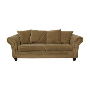 Bob's Discount Furniture Bob's Discount Furniture Bella Tan Single Cushion Sofa on sale