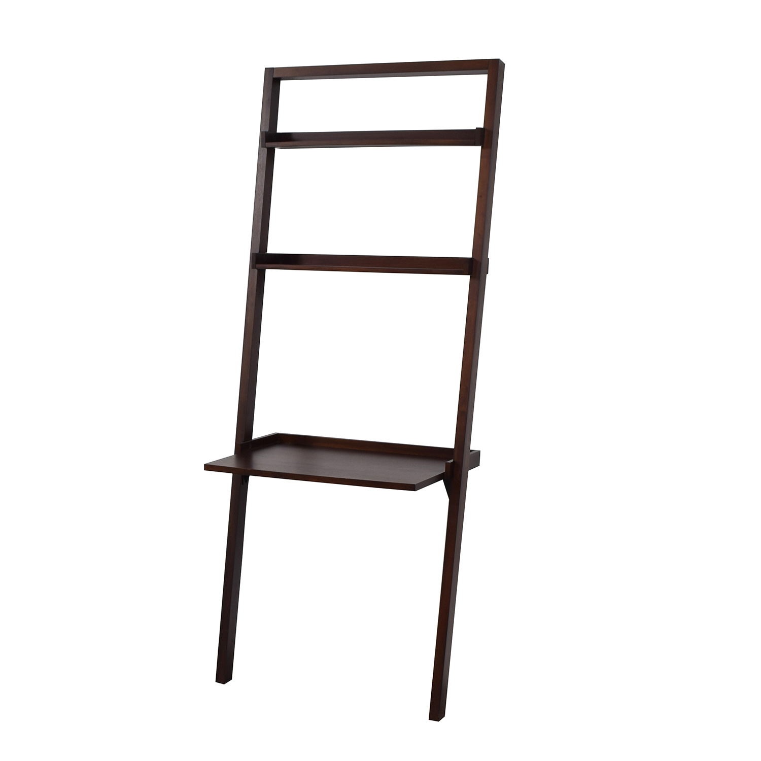 shop Pottery Barn Leaning Wood Shelves and Desk Pottery Barn Bookcases & Shelving