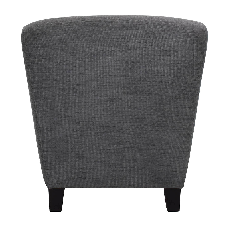 Highback Gray Armchair