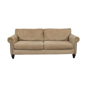 Beige Nailhead Two-Cushion Sofa coupon