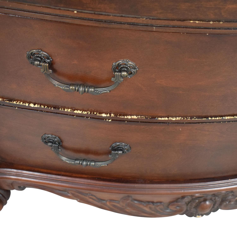 Dark Brown Tall Six Drawer Dresser Dressers