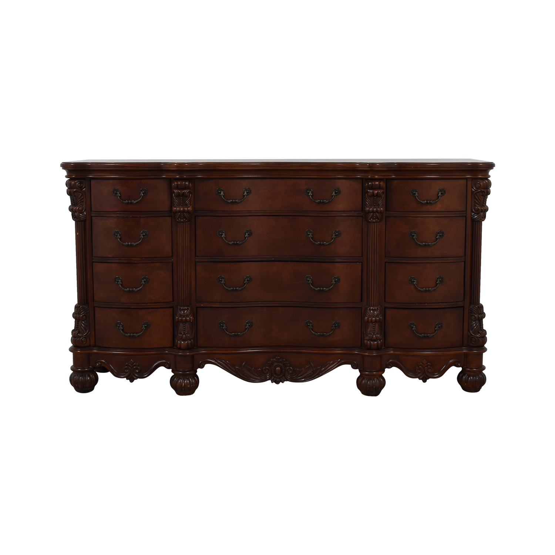 Dark Brown Low Twelve Drawer Dresser price