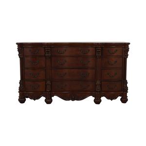 buy Dark Brown Low Twelve Drawer Dresser