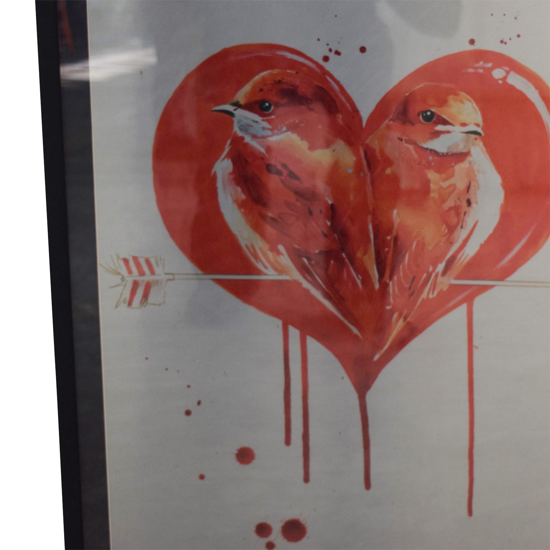 shop Lara Zombie Love Birds Aluminum Framed Artwork Lara Zombie Decor