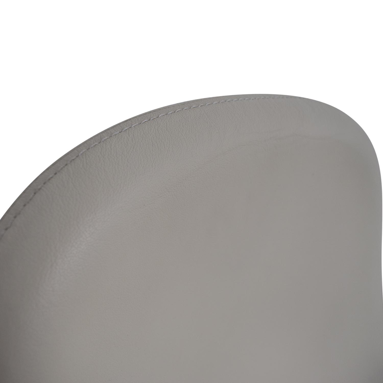 73% OFF IKEA IKEA Tirup White Leather Swivel Chair Chairs