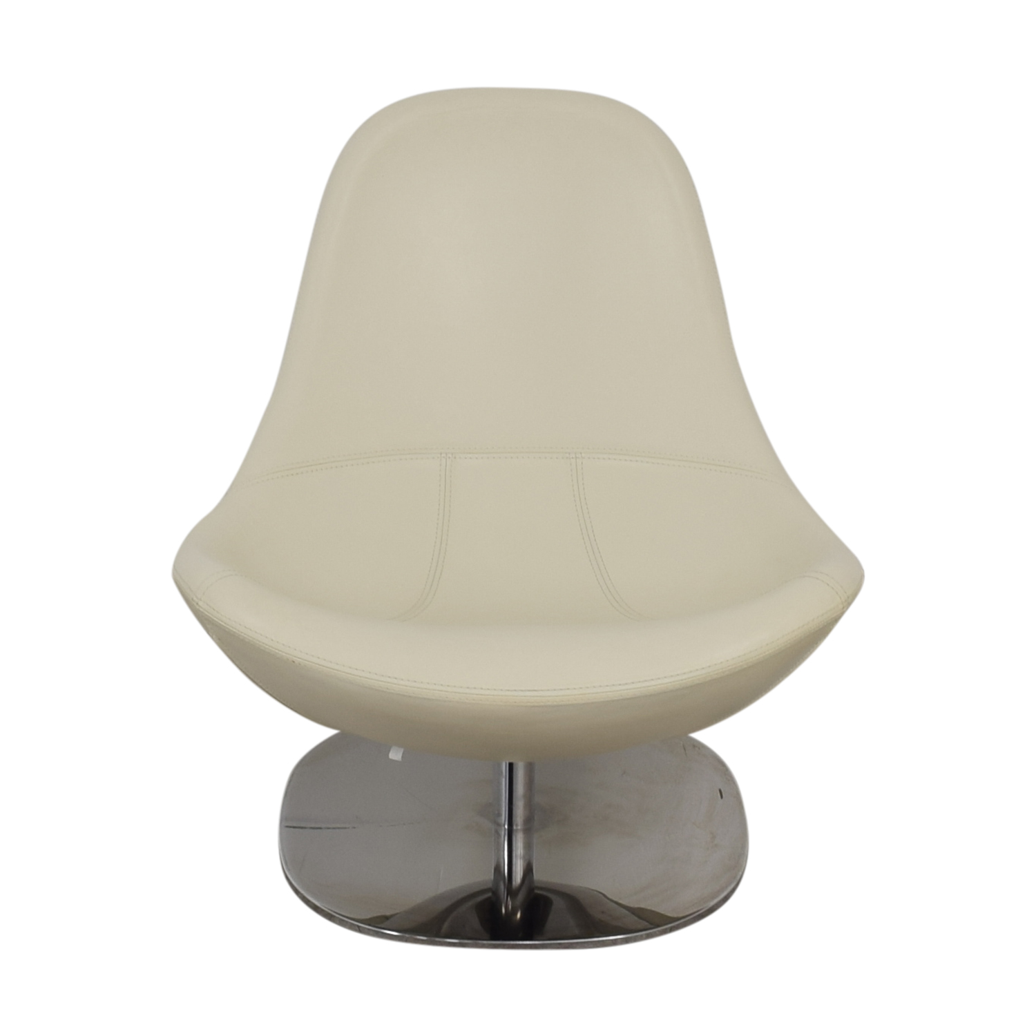 73% OFF - IKEA IKEA Tirup White Leather Swivel Chair / Chairs