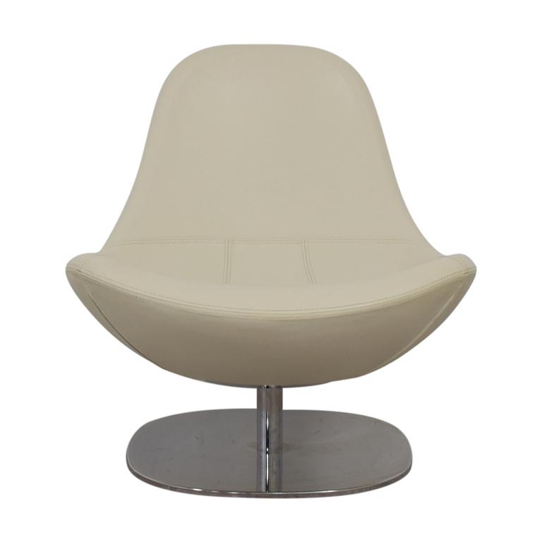 buy IKEA Tirup White Leather Swivel Chair IKEA