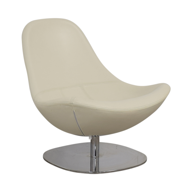 Terrific 73 Off Ikea Ikea Tirup White Leather Swivel Chair Chairs Creativecarmelina Interior Chair Design Creativecarmelinacom