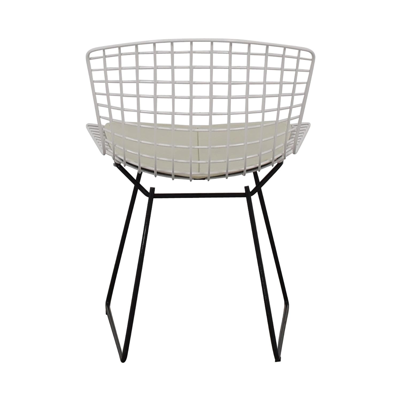 buy Knoll Bertoia White Side Chair Knoll