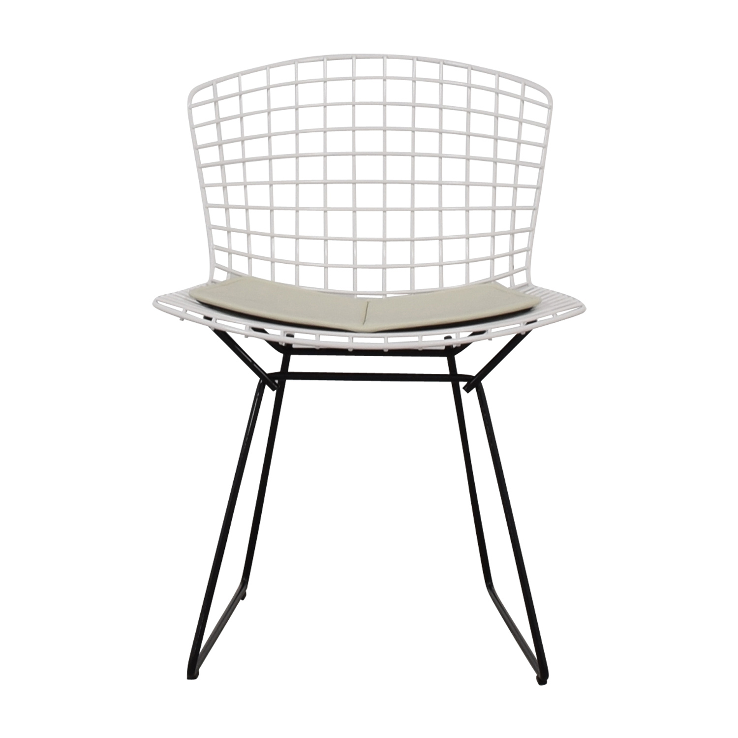 shop Knoll Bertoia White Side Chair Knoll Dining Chairs