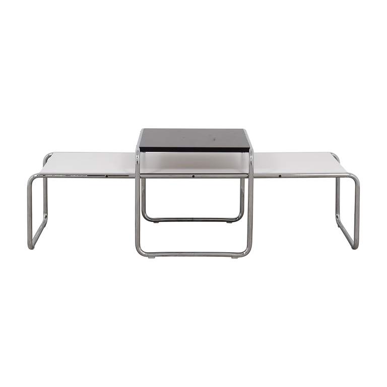 Knoll Knoll Marcel Breuer Laccio Coffee Table and Side Table dimensions