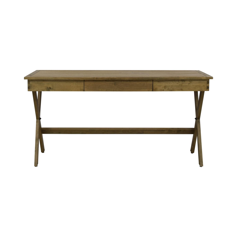 Acacia Wood Campaign Desk