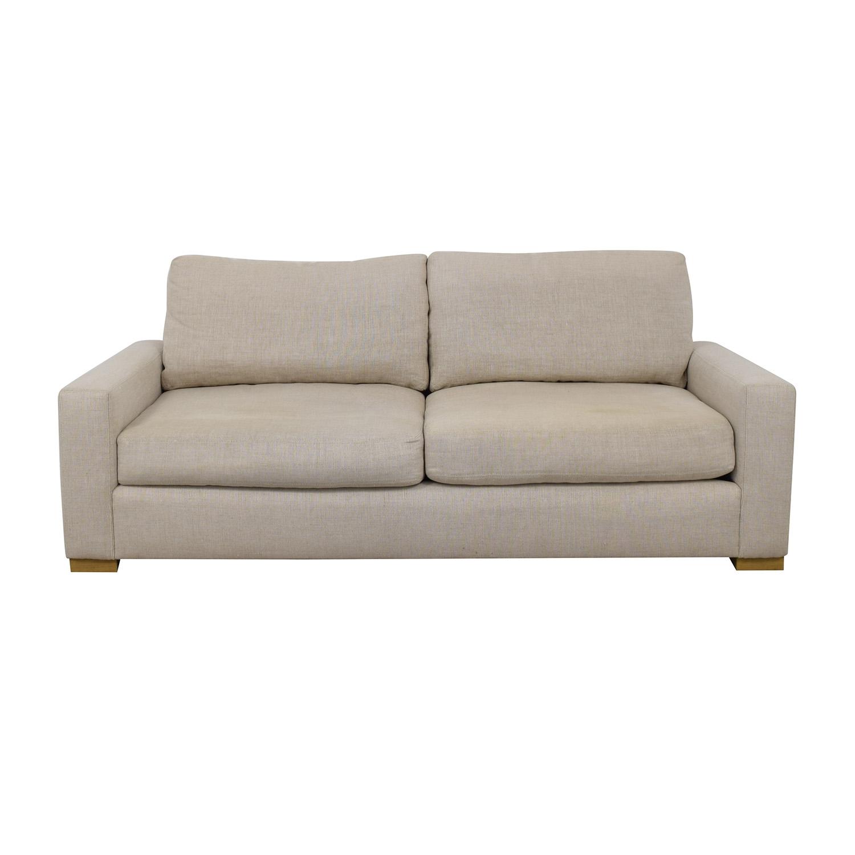 shop Restoration Hardware Maxwell Sand Belgian Linen Sofa Restoration Hardware