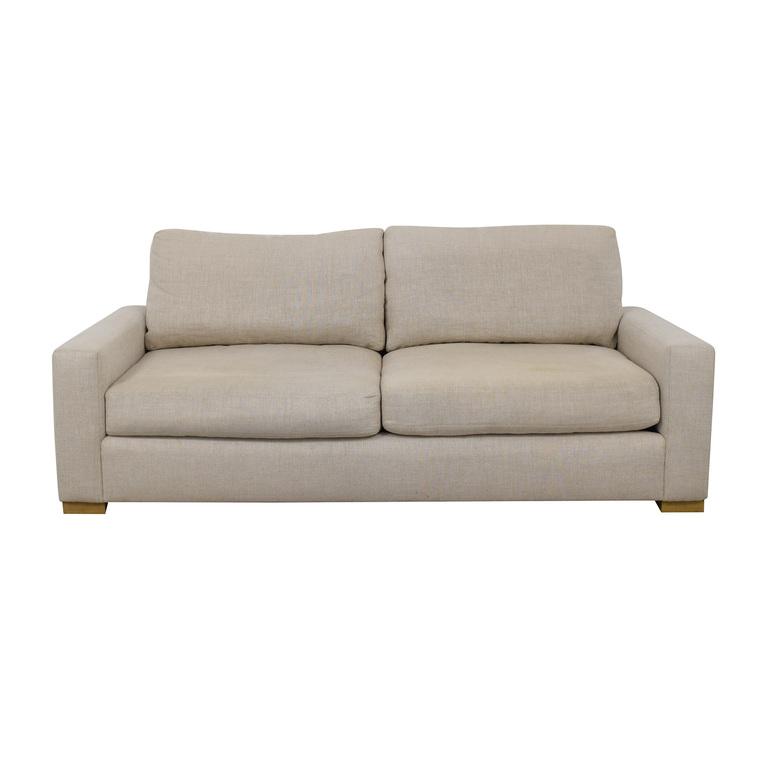 Restoration Hardware Restoration Hardware Maxwell Sand Belgian Linen Sofa nj