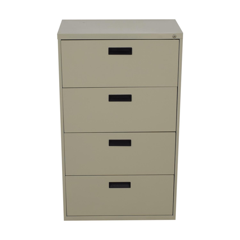 Beige Four-Drawer Filing Cabinet / Cabinets & Sideboards