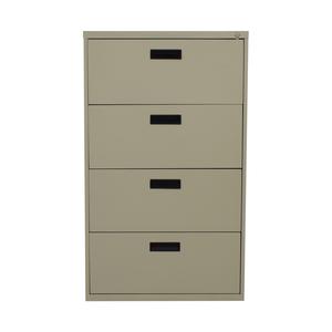 shop Beige Four-Drawer Filing Cabinet