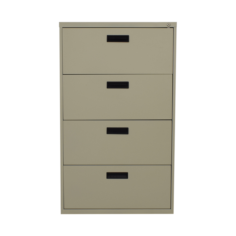 Beige Four-Drawer Filing Cabinet discount