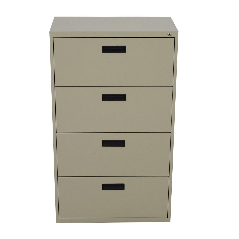Sandusky Sandusky 4-Drawer Lateral File Cabinet beige