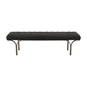 West Elm West Elm Emil Leather Bench dimensions