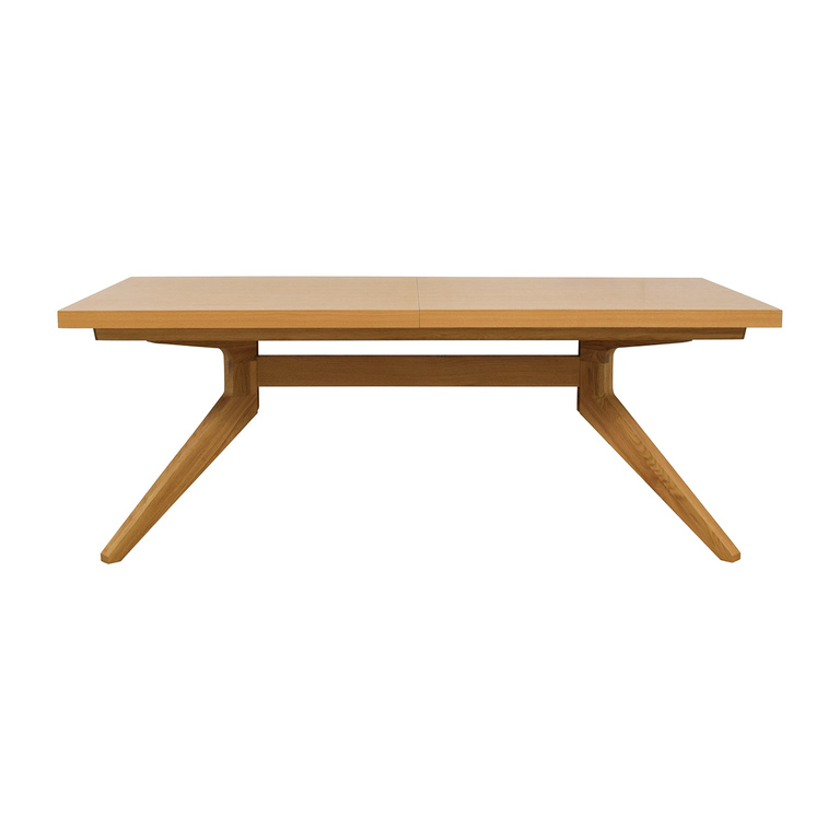shop Design Within Reach Case Oak Cross Extension Table Design Within Reach