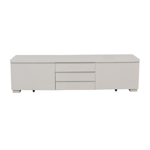 White Five-Drawer Entertainment Unit second hand
