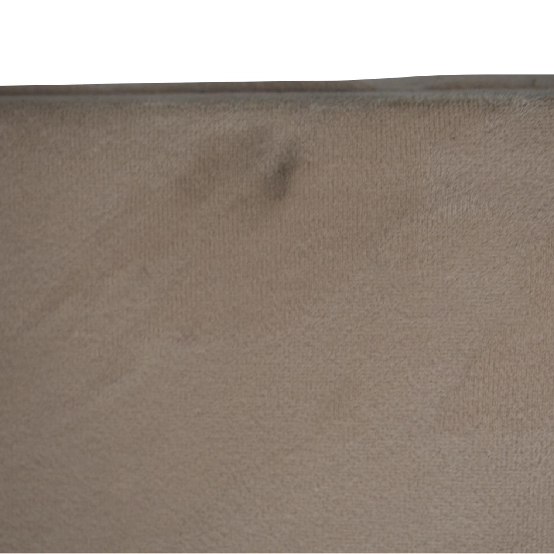 Macy's Macy's Beige Microfiber Nailhead King Bed Frame price