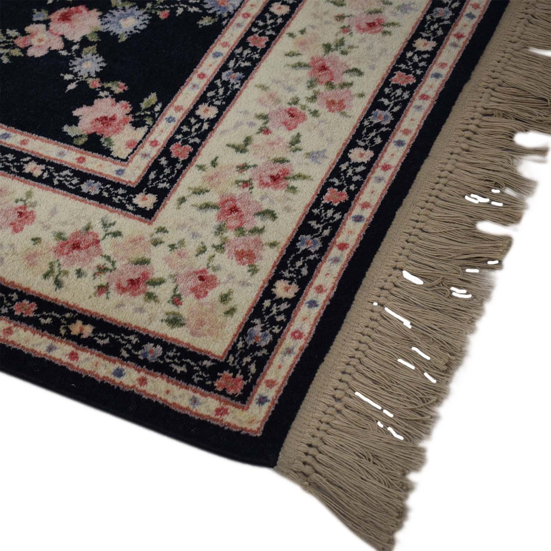 Floral Fringe Area Rug / Rugs