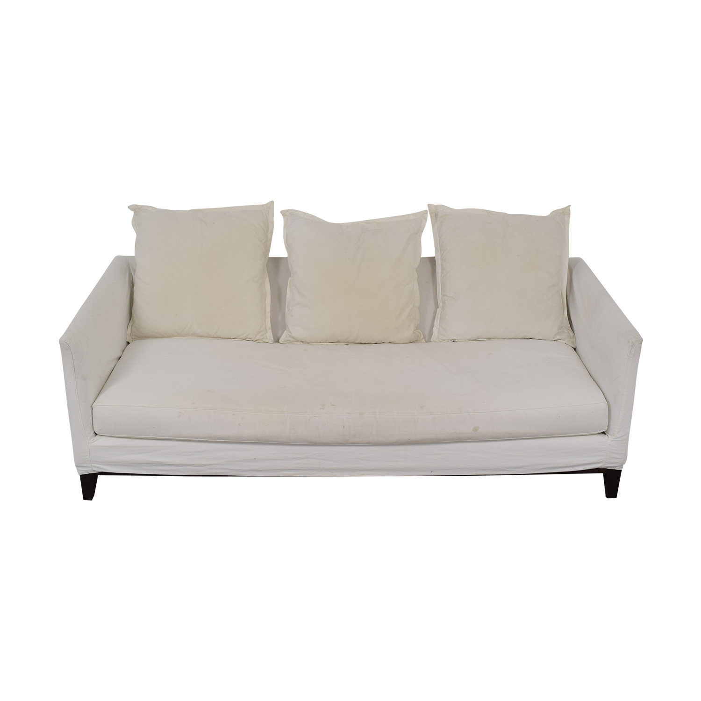 ABC Carpet & Home ABC Carpet & Home White Single Cushion Sofa Sofas