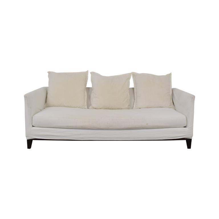 ABC Carpet & Home ABC Carpet & Home White Single Cushion Sofa on sale