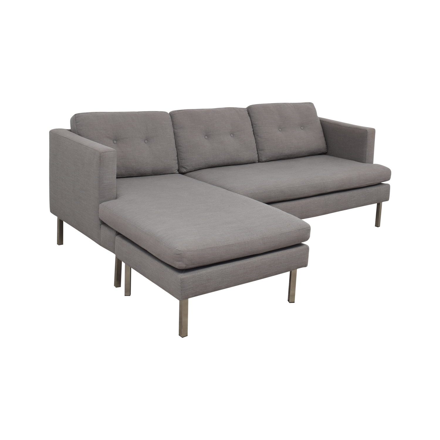 West Elm West Elm Jackson Grey Chaise Sectional used