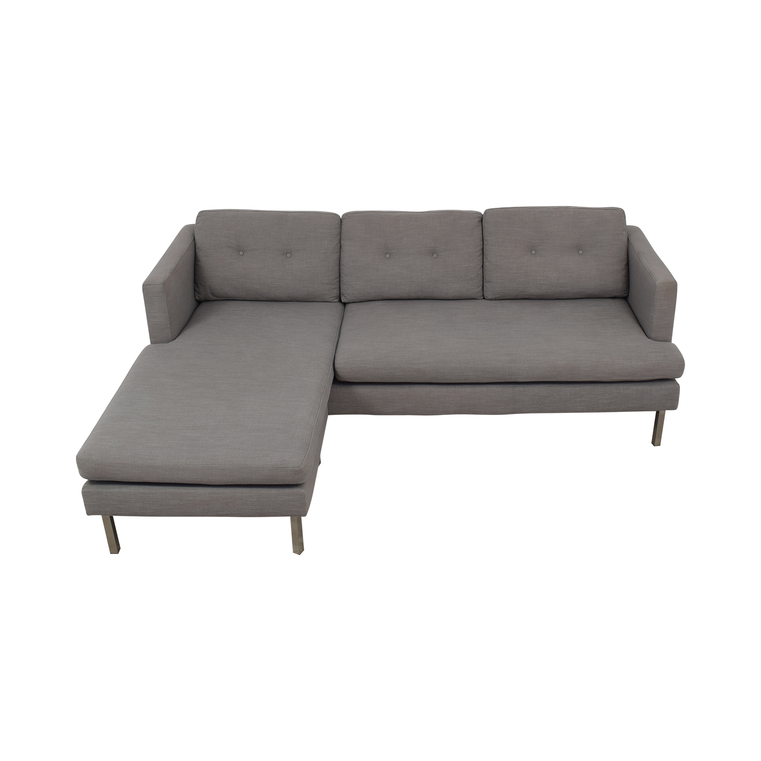 West Elm West Elm Jackson Grey Chaise Sectional Sectionals