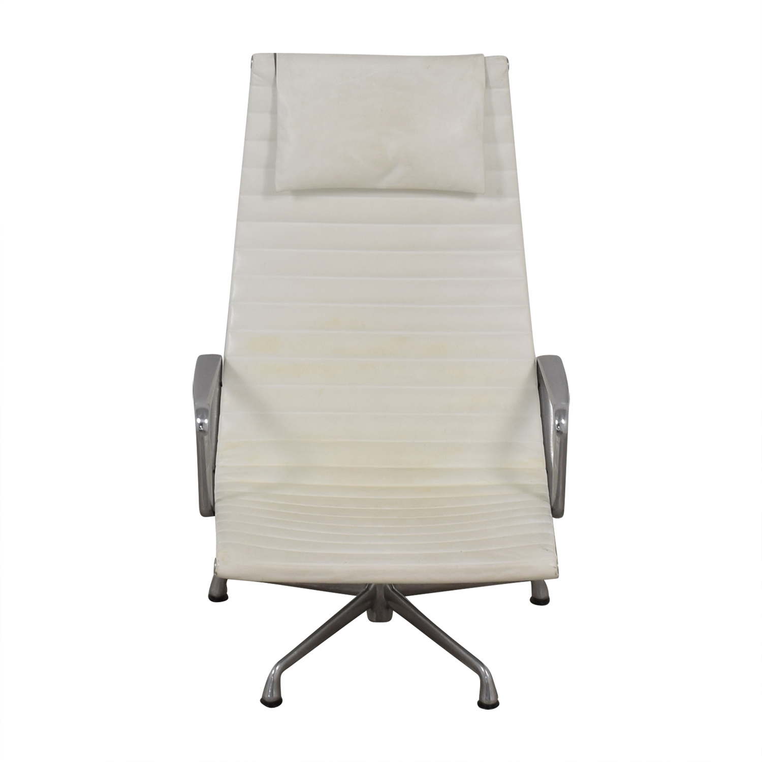 Herman Miller Eames Aluminum Group White Lounge Chair Herman Miller