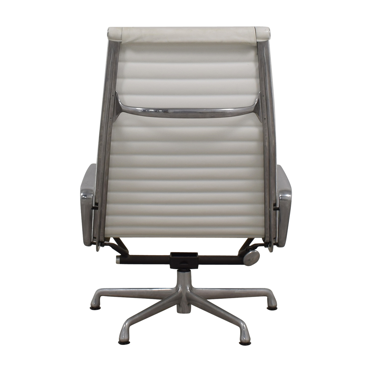 Herman Miller Eames Aluminum Group White Lounge Chair sale