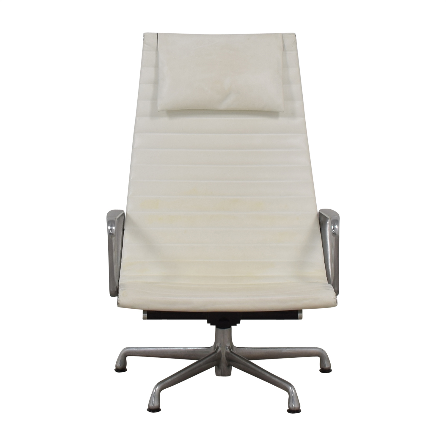 Herman Miller Herman Miller Eames Aluminum Group White Lounge Chair discount
