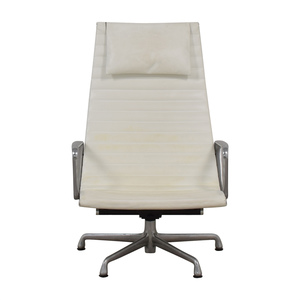 buy Herman Miller Eames Aluminum Group White Lounge Chair Herman Miller