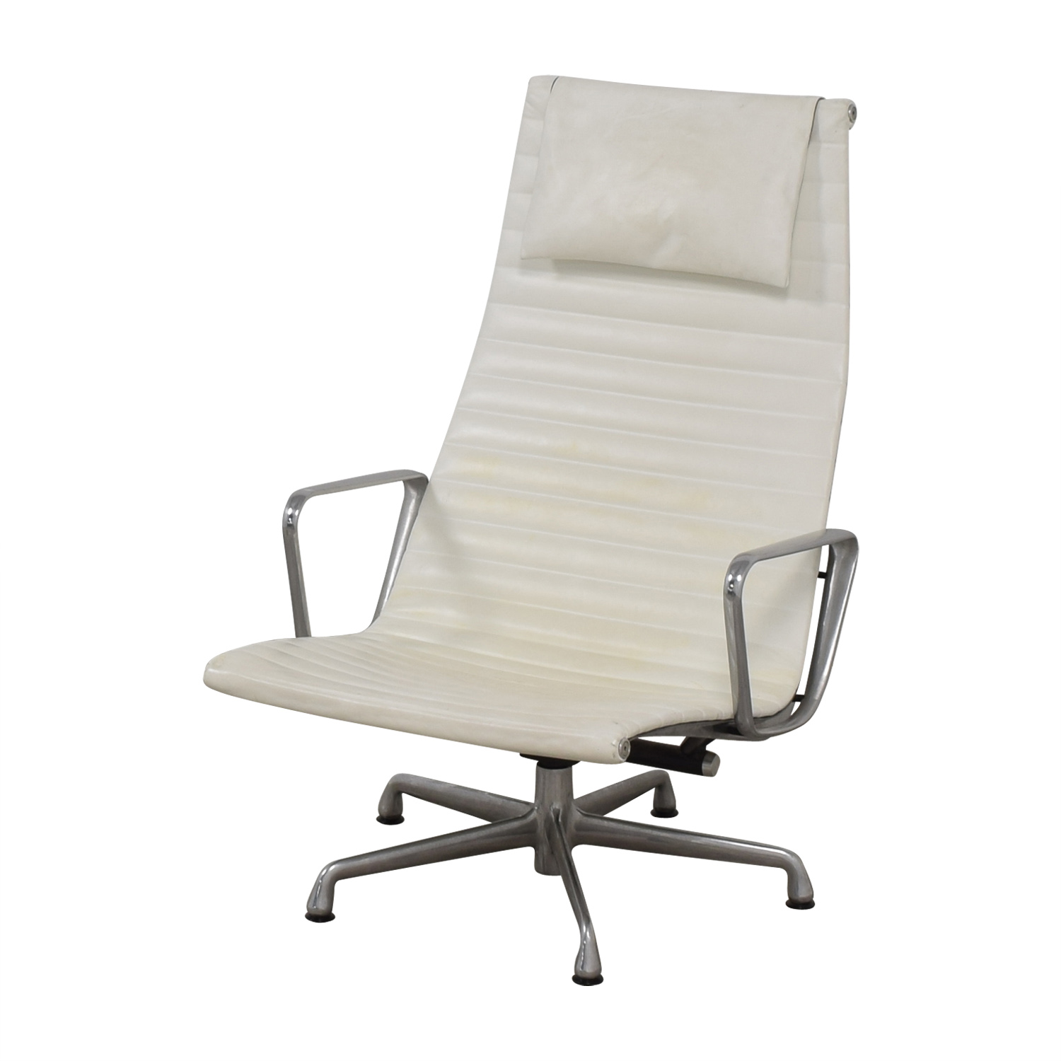 shop Herman Miller Eames Aluminum Group White Lounge Chair Herman Miller