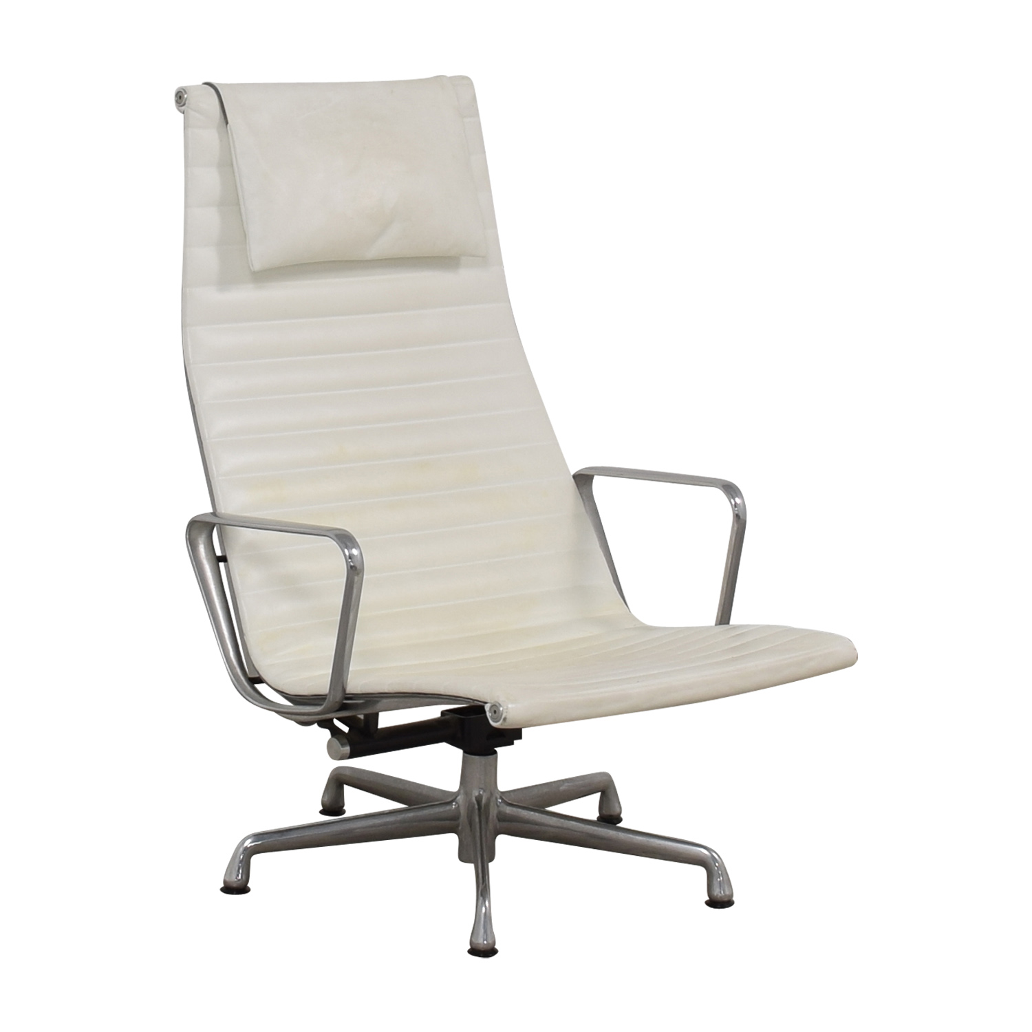 Herman Miller Herman Miller Eames Aluminum Group White Lounge Chair dimensions