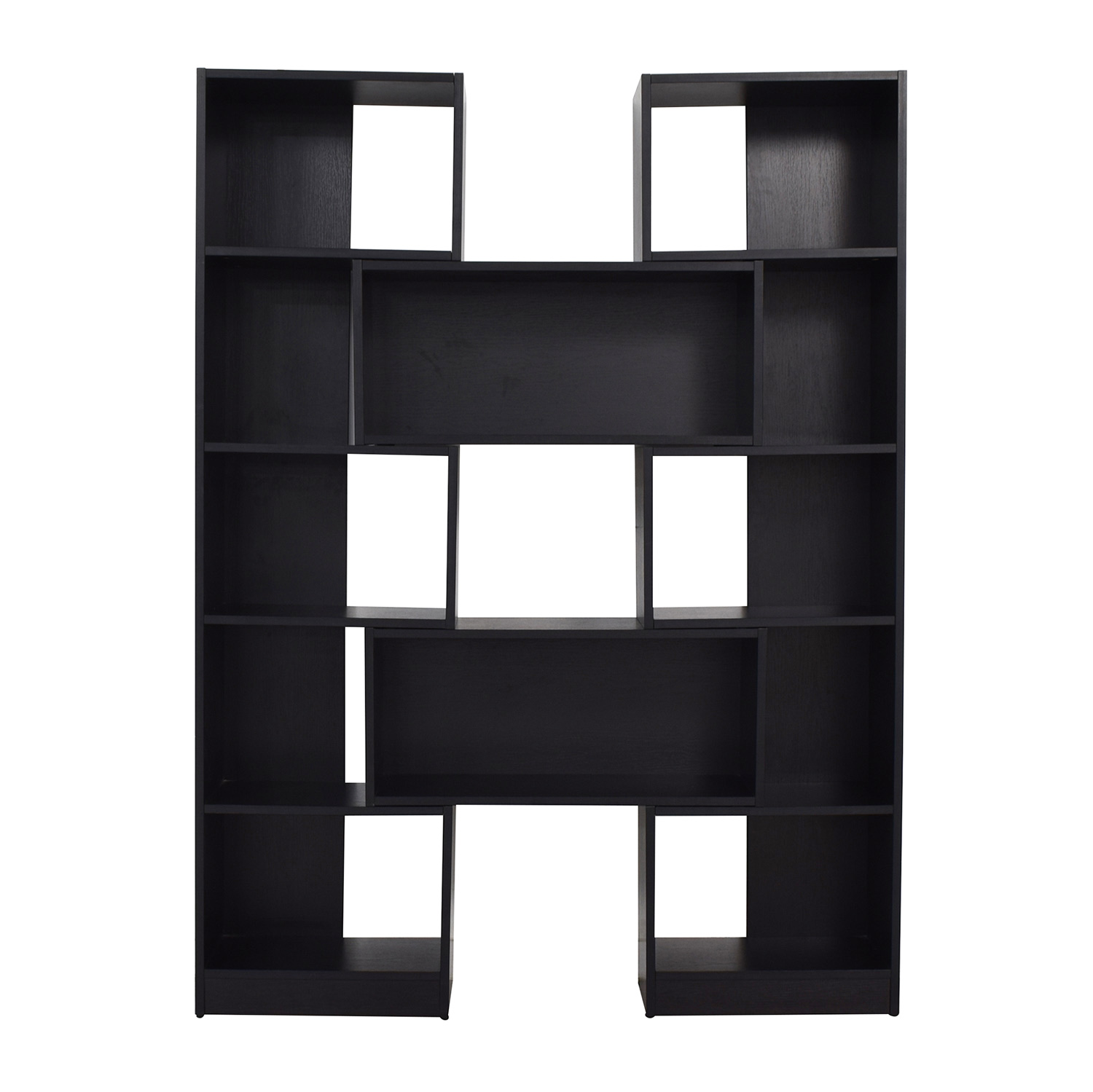 Crate & Barrel Puzzle Black Extendable Bookcase sale